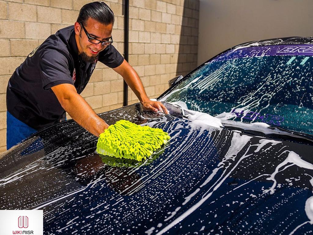 كيفية غسيل السيارة عند البيت