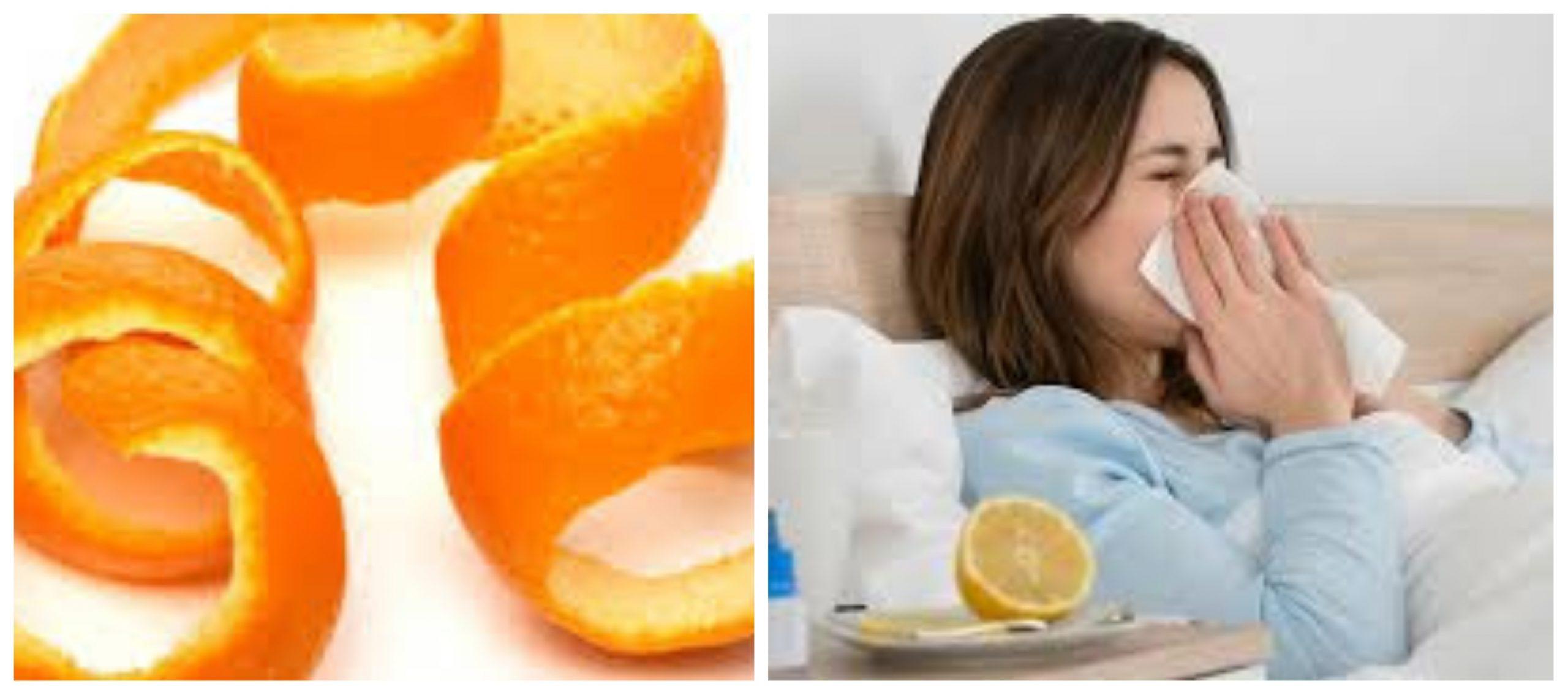 قشر البرتقال يحمي من نزلات البرد