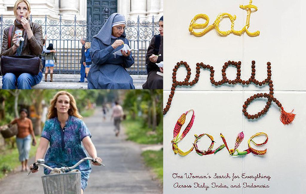 ملخص فيلم Eat,Pray,Love طعام، صلاة، حب، وصفة جيلبرت السحرية