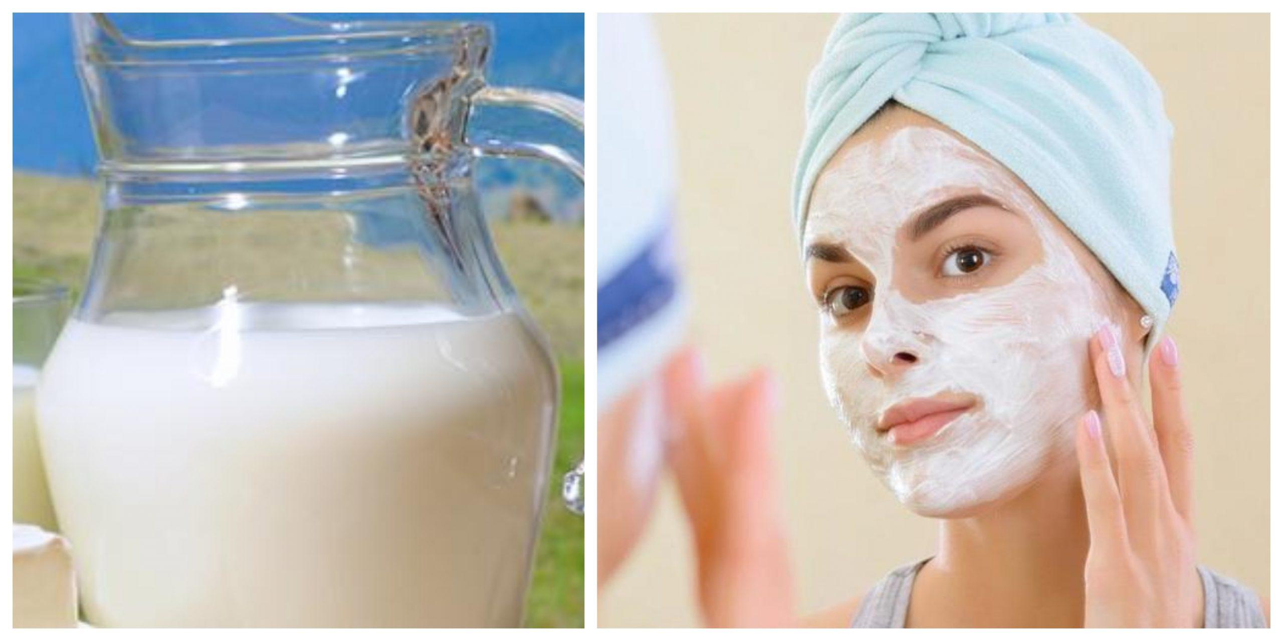 الحليب مطهر للوجه