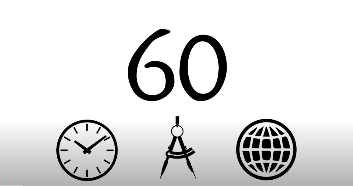 تقسيم الساعة لـ 60 دقيقة و60 ثانية
