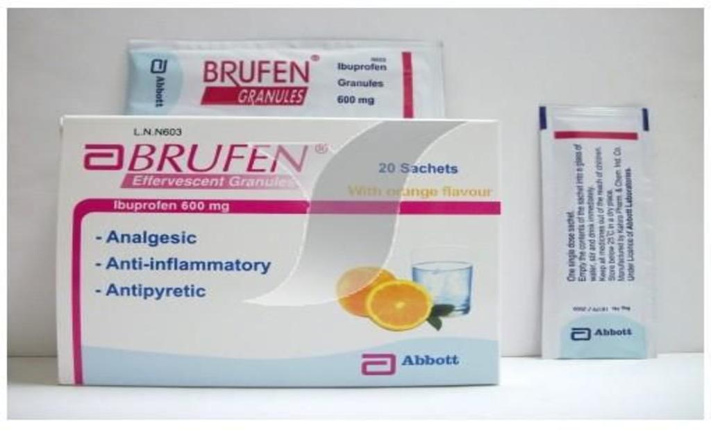 """أقراص وفوار"""" BRUFEN بروفين"""" لعلاج التهاب المفاصل"""