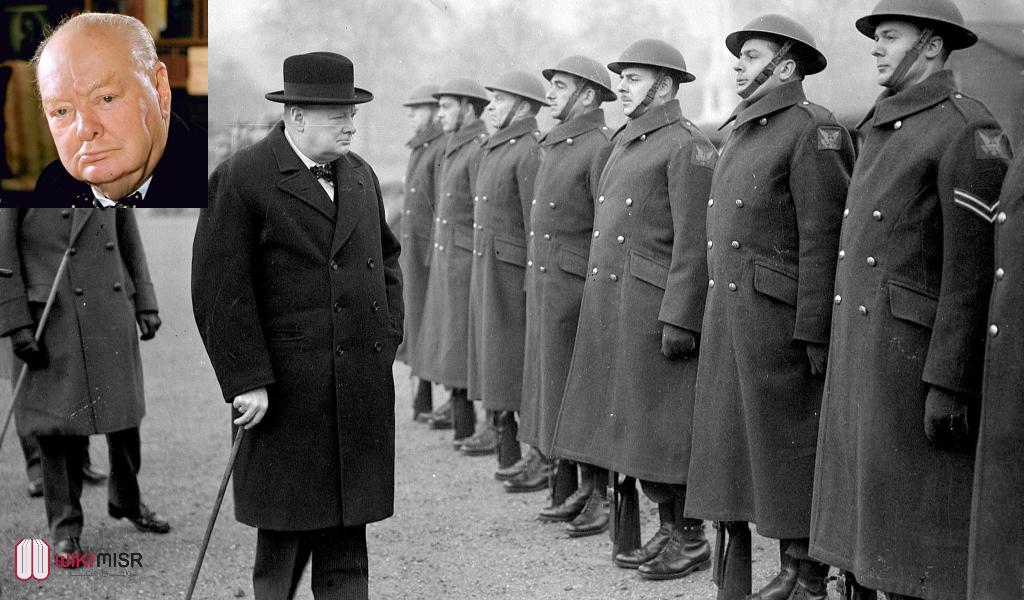 ونستون تشرشل القائد البريطاني الأعظم على مر العصور