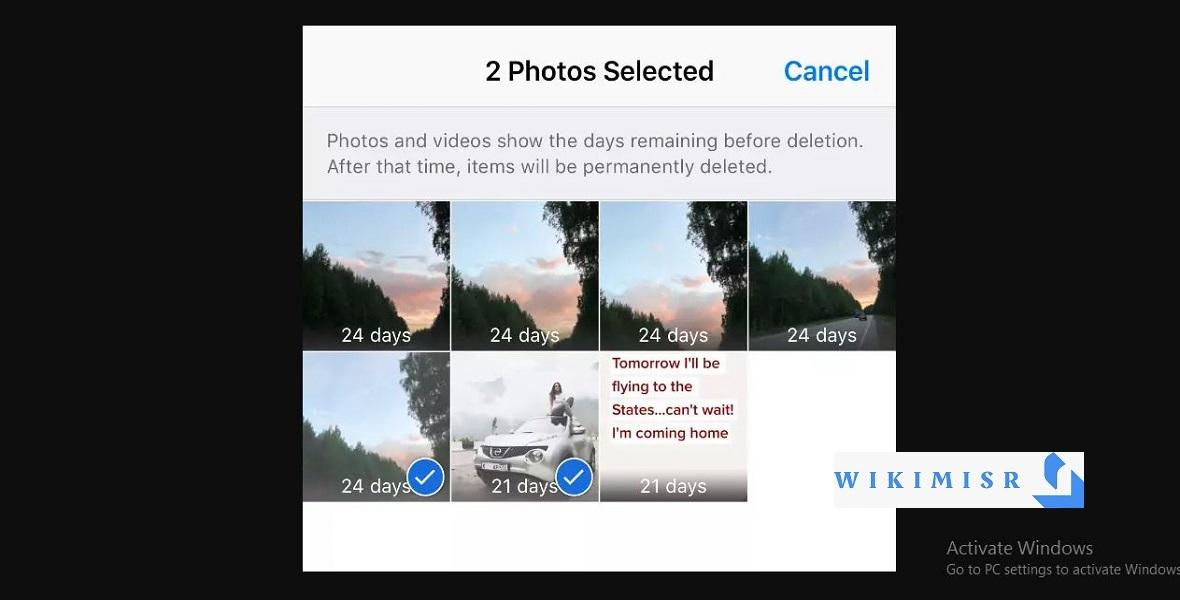 كيفية استعادة الصور المحذوفة من iPhone