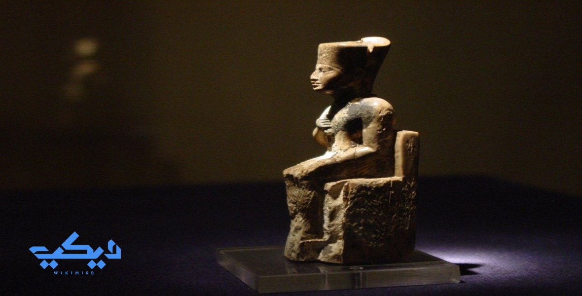 """تمثال الملك """"خوفو""""، المتحف المصرى."""