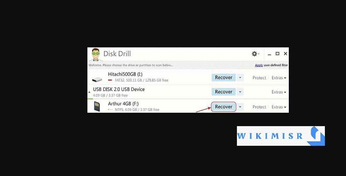 استعادة الصور المحذوفة من بطاقة SD باستخدام تطبيق Disk Drill