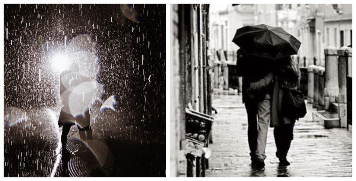 صورة رومانسية فى وضعية المطر