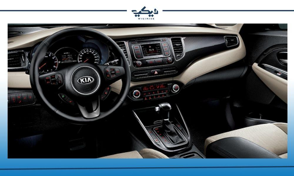 المقصورة الداخلية في سيارة كيا كارينز موديل 2019