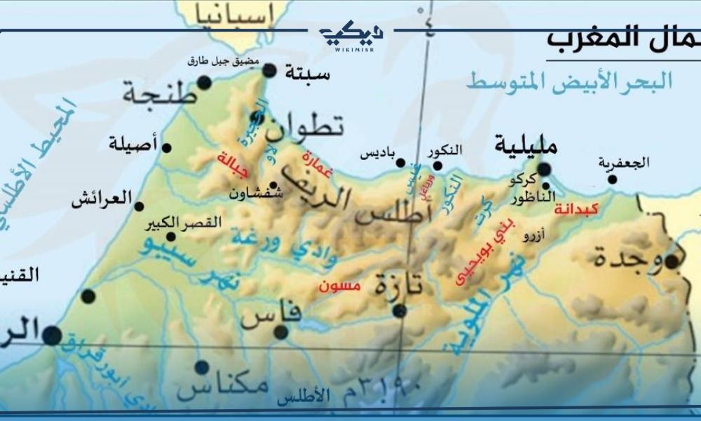 خريطة الريف المغربي