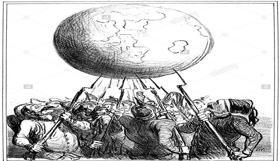 صورة رمزية توضح مبدأ توازن القوى