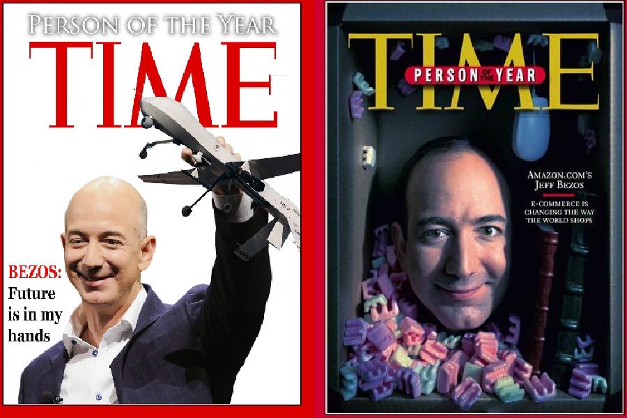 صورتان لجيف بيزوس على غلاف مجلة التايم الأمريكية