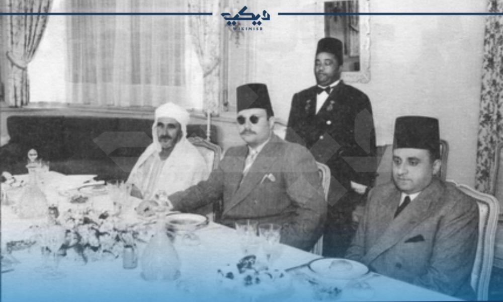 محمد عبد الكريم الخطابي بصحبة الملك فاروق