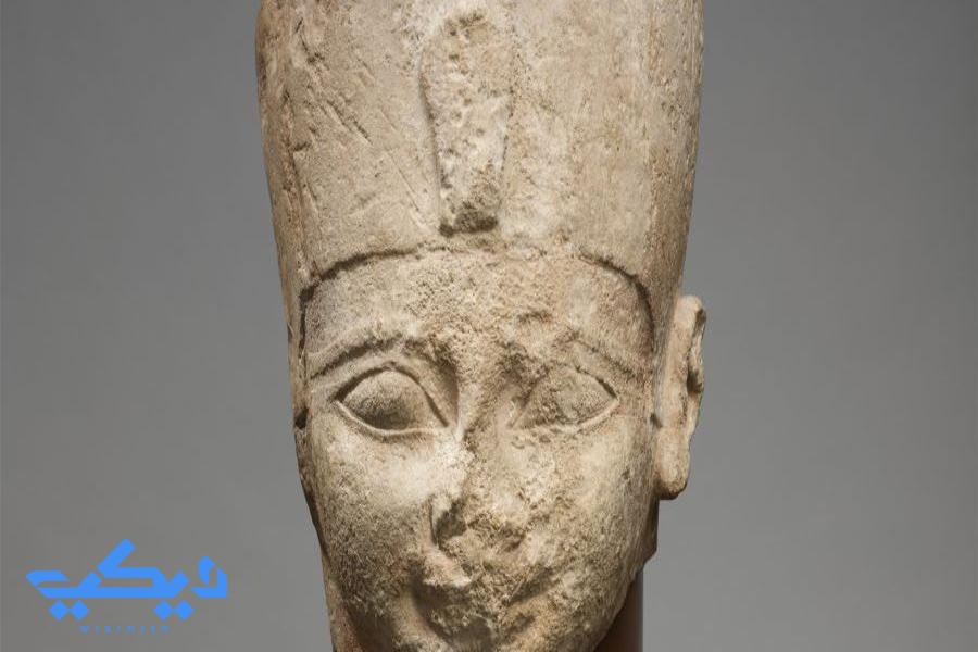 رأس تمثال للملك أحمس الأكبر.