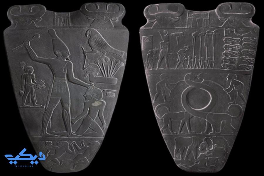 صلاية نارمر أول ملوك الأسرات، المتحف المصرى.