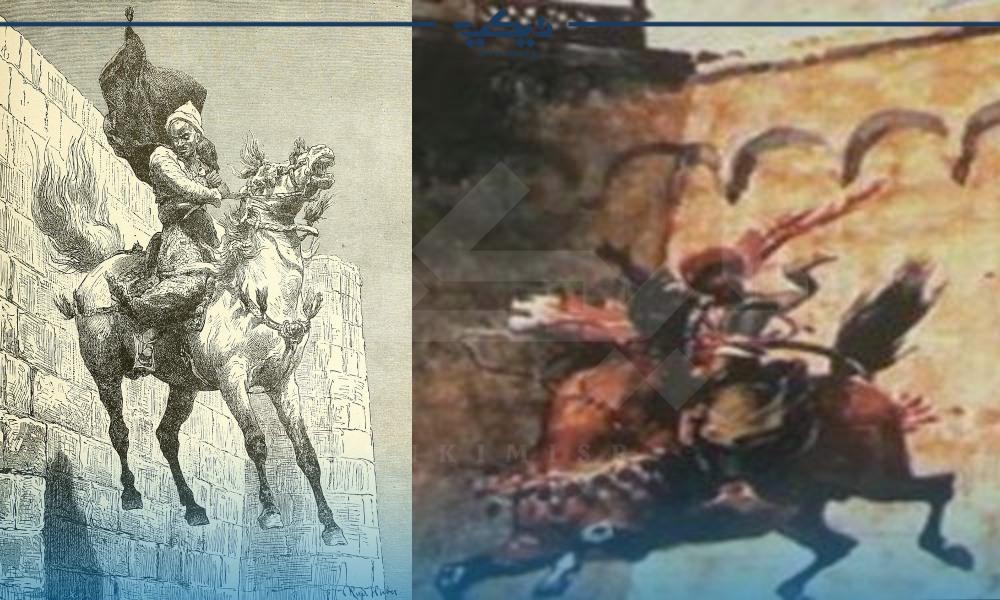 لوحات توضح الناجي الوحيد من مذبحة القلعة أمين بك