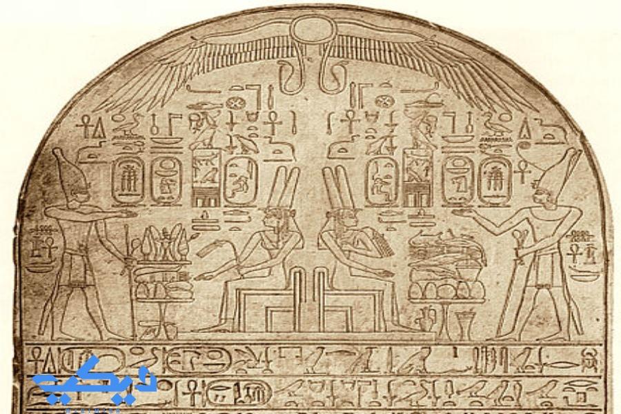 لوحة أحمس التى ذكر فيها أمه الملكة إيعح حتب.