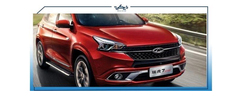 سيارة شيري تيجو باللون الأحمر