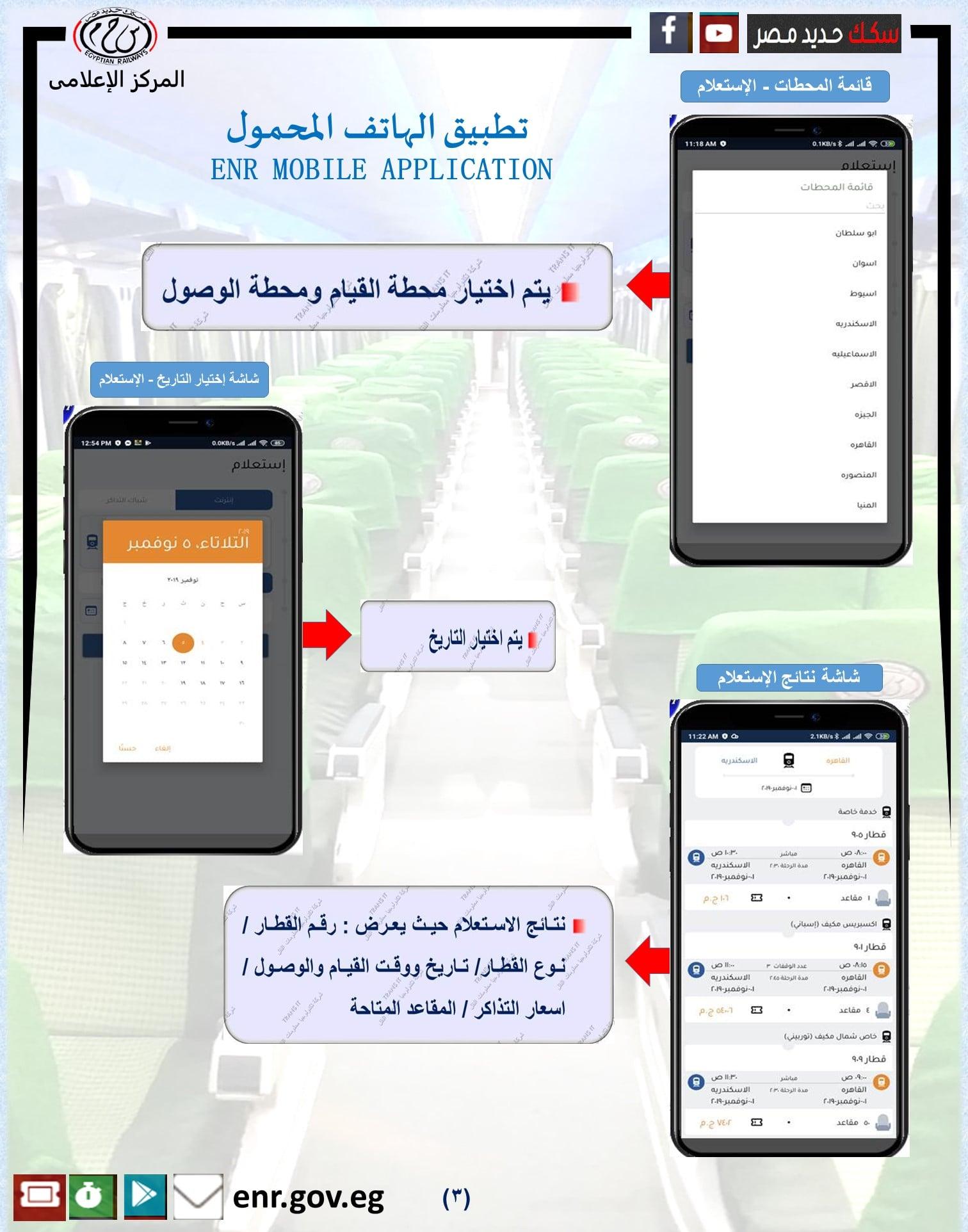 كيفية الاستعلام على المحطات في سكك حديد مصر