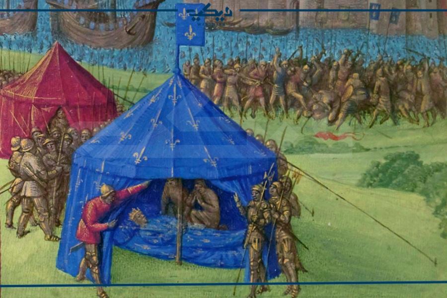 لوحة تمثل وفاة لويس التاسع في تونس