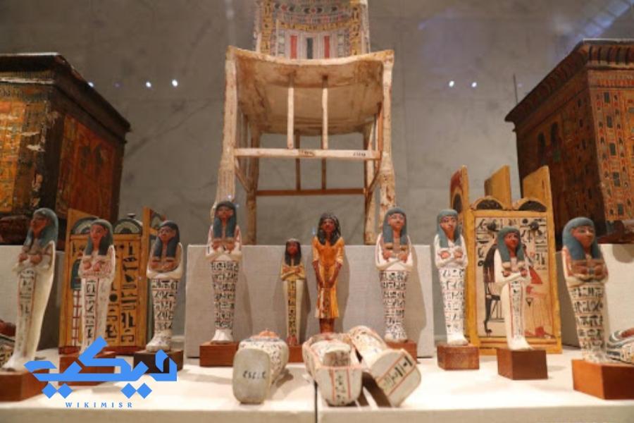 جزء من مقتنيات متحف الحضارة.