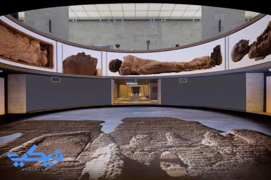 قاعة المومياوات الملكية بمتحف الحضارة.