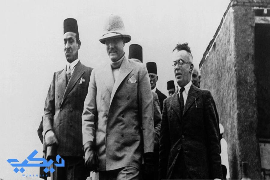 الملك فاروق يزور كشف تانيس.