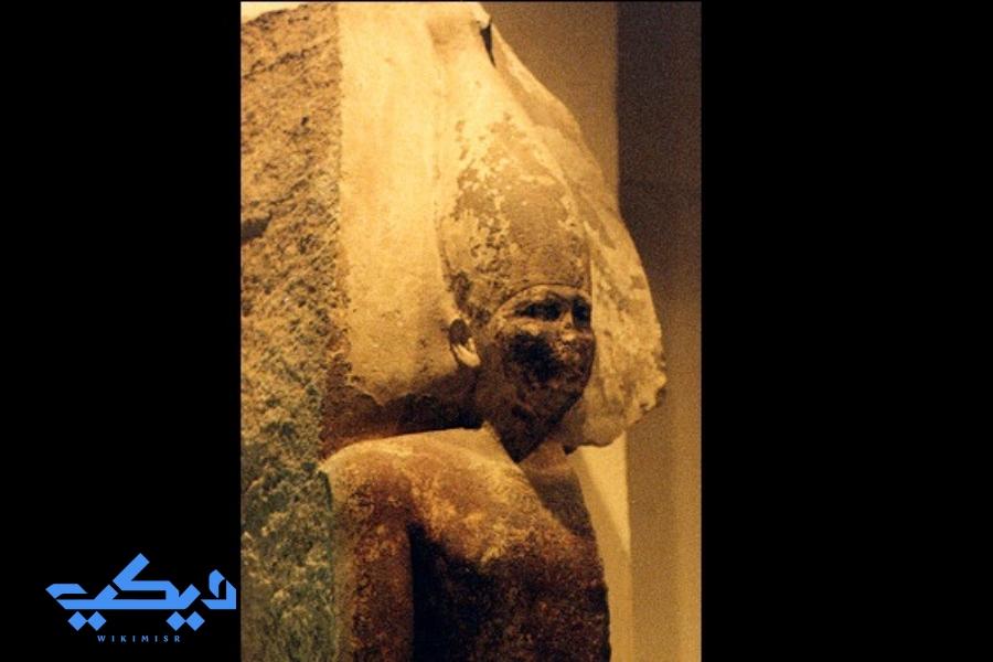 """تمثال الملك """"سنفرو"""" المتحف المصرى."""
