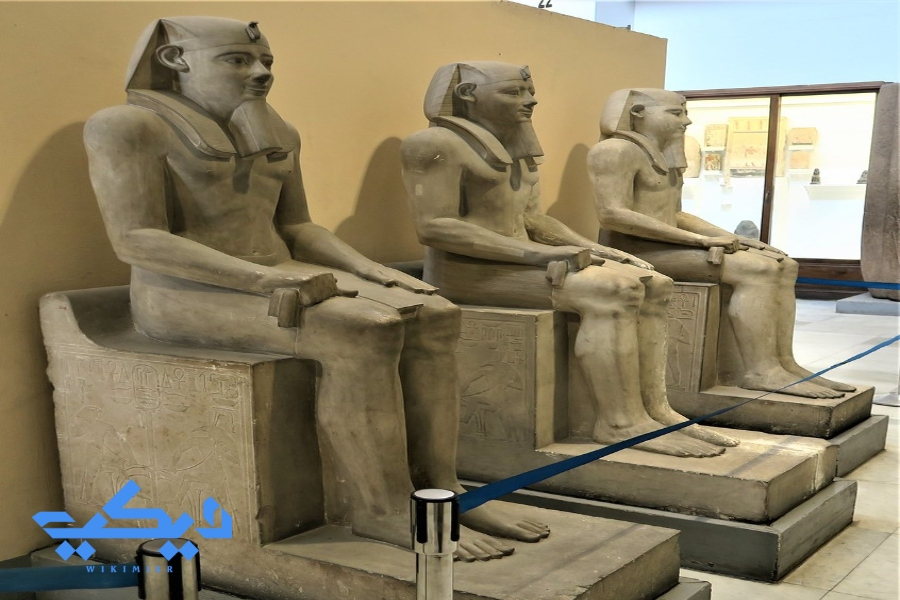 """تماثيل الملك """"سنوسرت الأول"""", المتحف المصرى."""