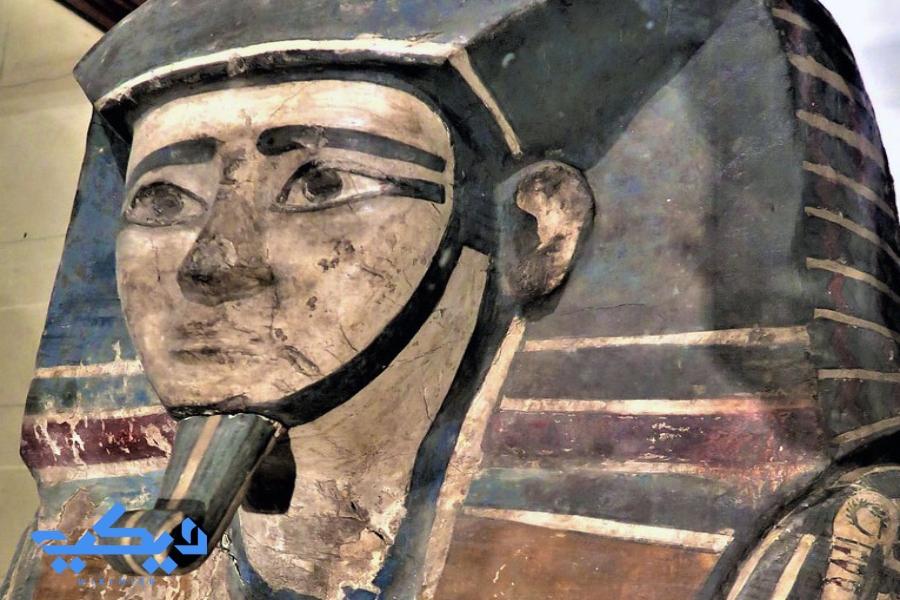 """غطاء تابوت الملك """"كامس"""", المتحف المصرى."""