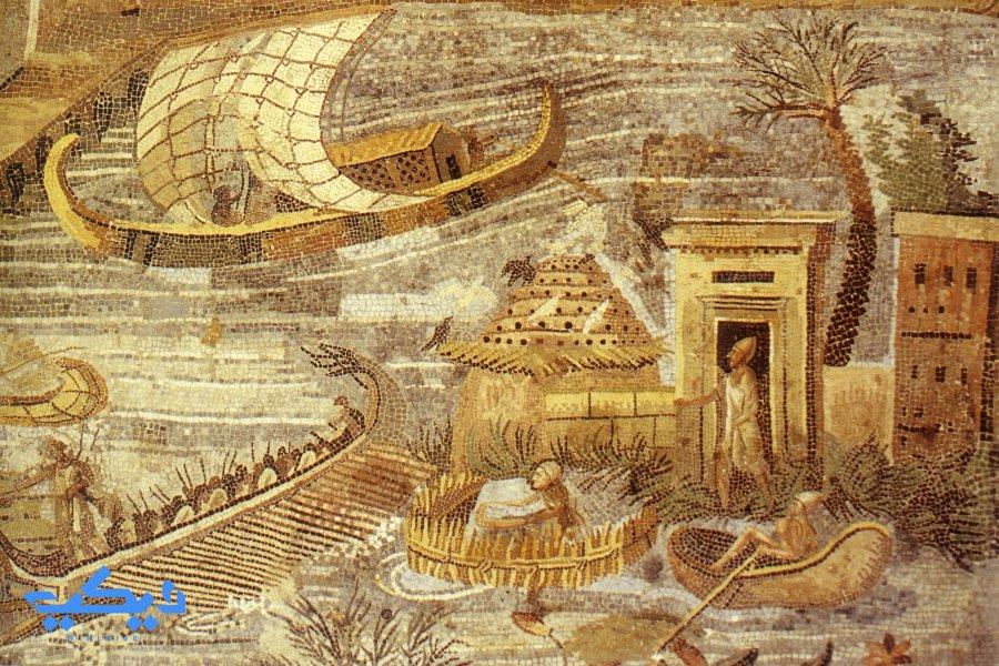 الحياة على ضفاف النيل إستنادا على ما تخيله هيرودوت.