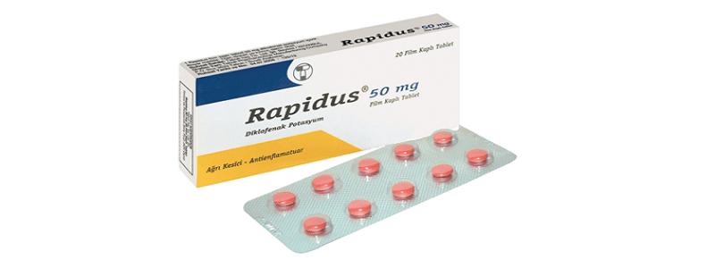 أقراص رابيدوس ٥٠ لتسكين الألم