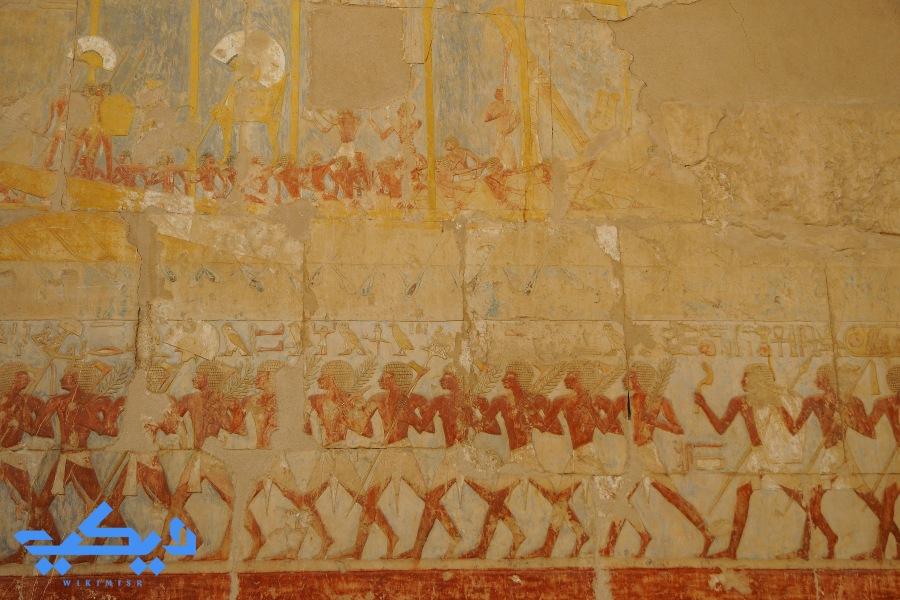 جدارية لبعثة بونت, معبد الدير البحرى.