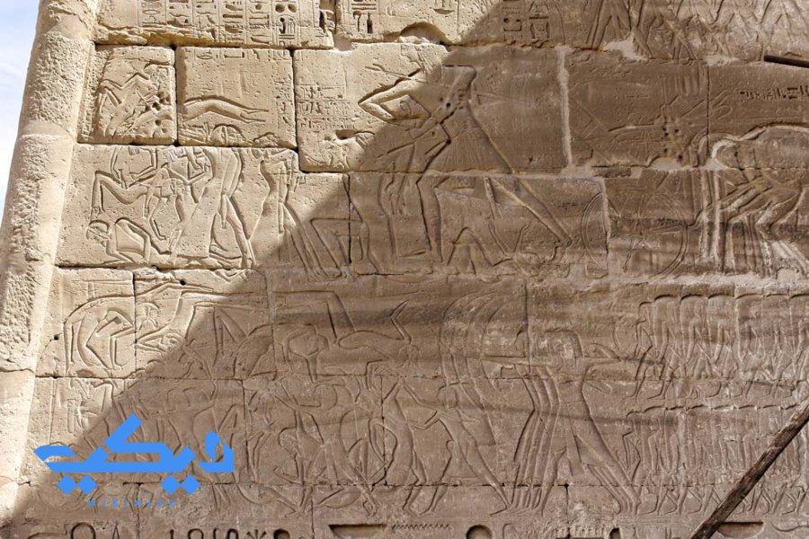 رمسيس الثالث وسحق التحالف الليبي, معبد هابو.