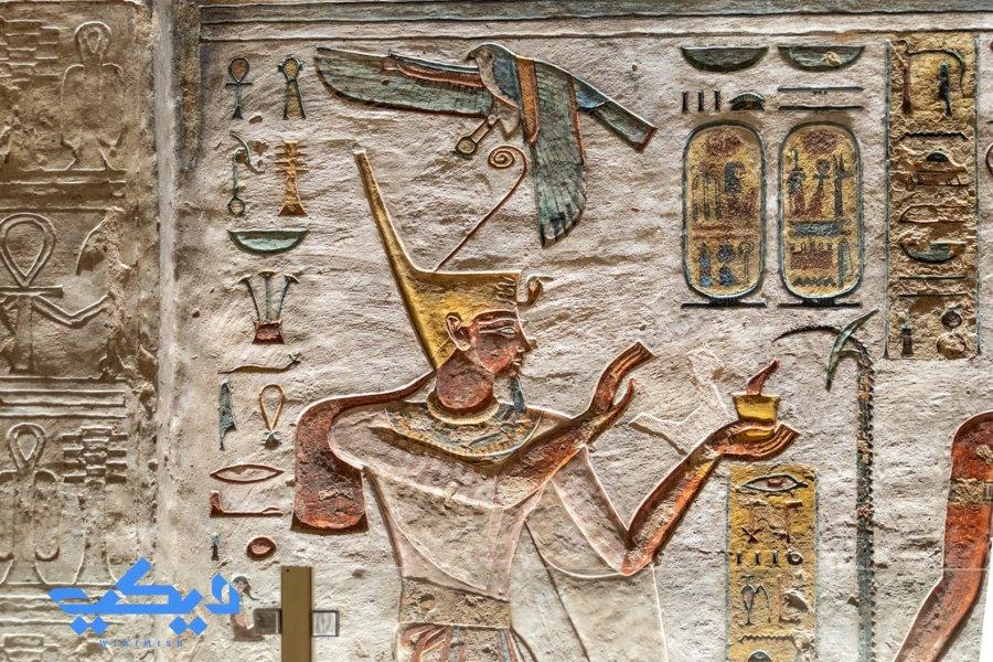 رمسيس الثالث من على جدران مقبرته رقم 11 , وادى الملوك.