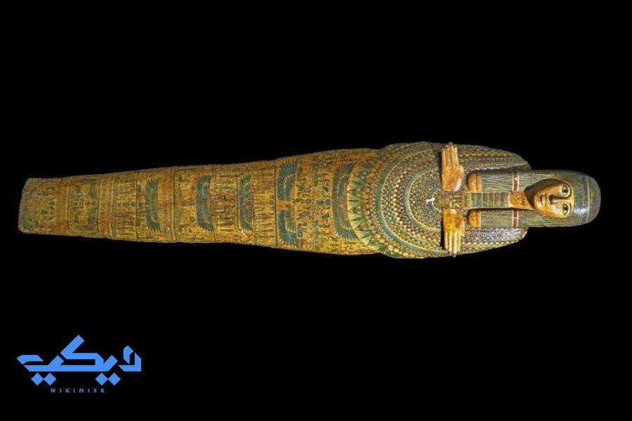 غطاء التابوت من أرشيف المتحف البريطاني.